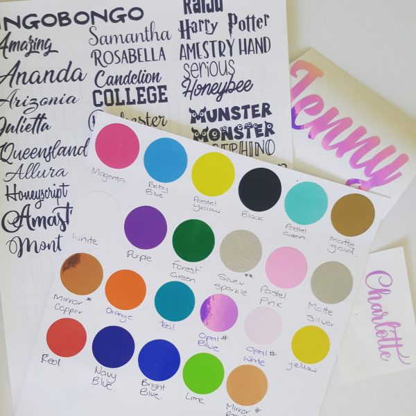 Name Label Stickers